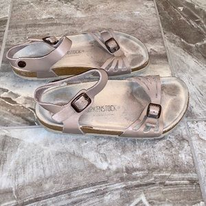 Birkenstock Bali Ankle Strap Taupe Leather Sandals